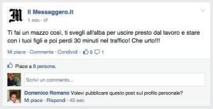 Il messaggero traffico roma lavoro