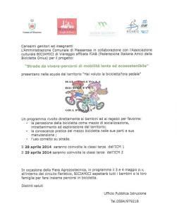 Volantino Massarosa Bicicletta scolaresche