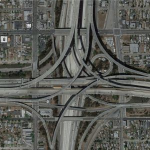 Traffic intersection_Los Angeles