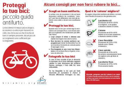 Guida anti furto contro furti di biciclette