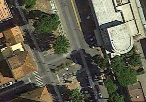 Piazzale Dante, Google Earth, luglio 2014