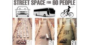 Chi ha bisogno dell'auto o del furgone deve ringraziare chi va in bici.