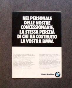 """BMW, """"Piacere di guidare""""."""