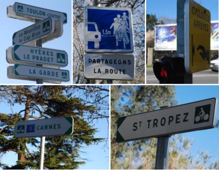 segnaletica francese distanza sorpasso biciclette ciclisti