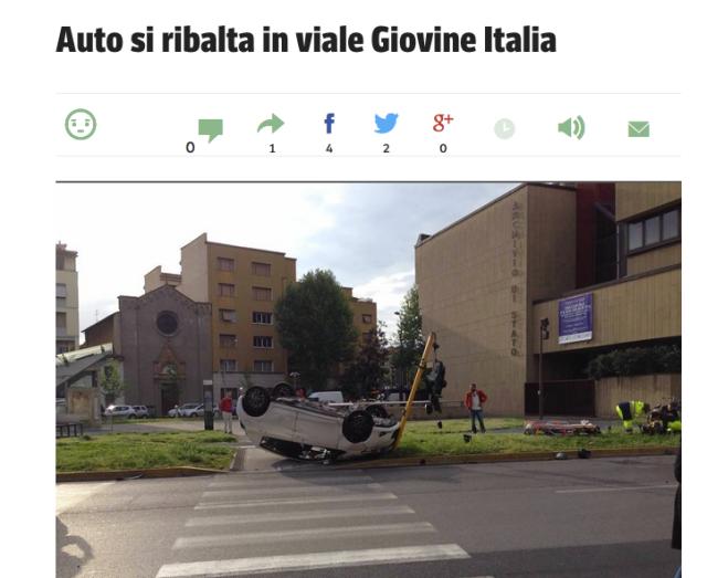 Auto si ribalta in viale Giovine Italia Screenshot 2015-05-01 09.35.37