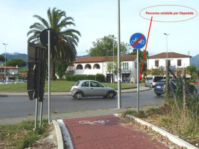 vialekennedy4 lido di camaiore percorso ciclabile per Ospedale Versilia