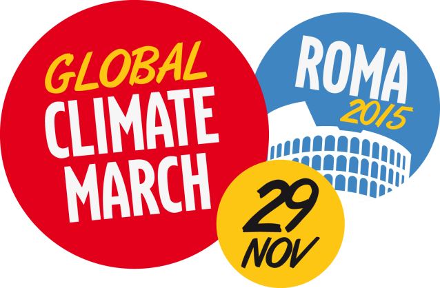 logo_clima_DEF Global Climate March Roma Rome 29 nov 2015