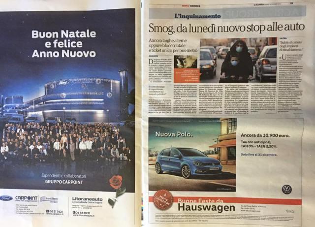 Buon natale Ford Volkswagen