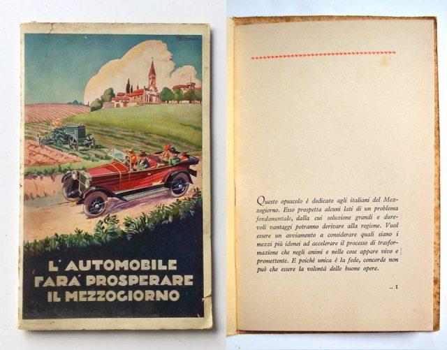 L'automobile farà prosperare il mezzogiorno 1928