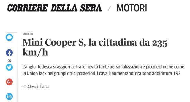 Mini Cooper S la cittadina da 235 kmh Screenshot 2018-04-06 19.05.16