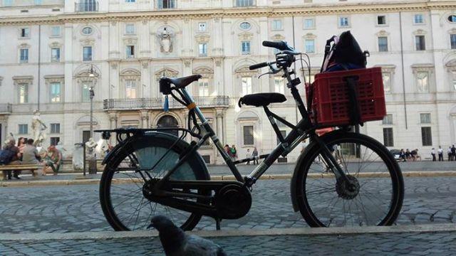 bicicletta Roma Michelangelo Alimenti cargo bike