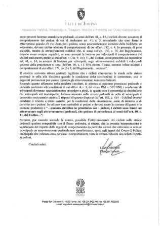 Circolare Città di Torino assessore trasporti viabilità febbraio 2015 2