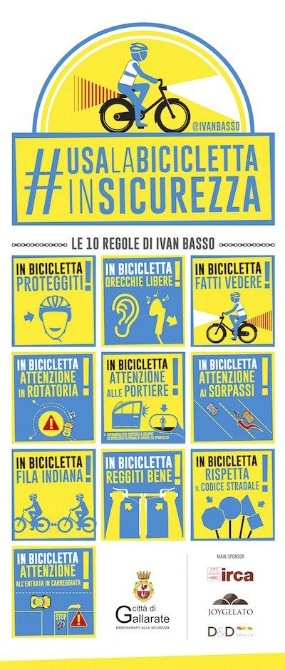 Gallarate campagna informativa biciclette ciclisti