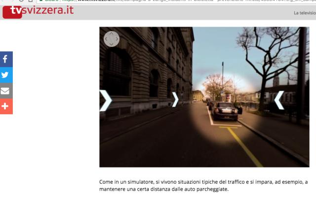 tv svizzera zurigo educazione stradale biciclette distanza tenere la destra apertura portiera Screenshot 2017-11-10 09.45.52
