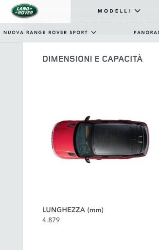 Lunghezza Range Rover Sport