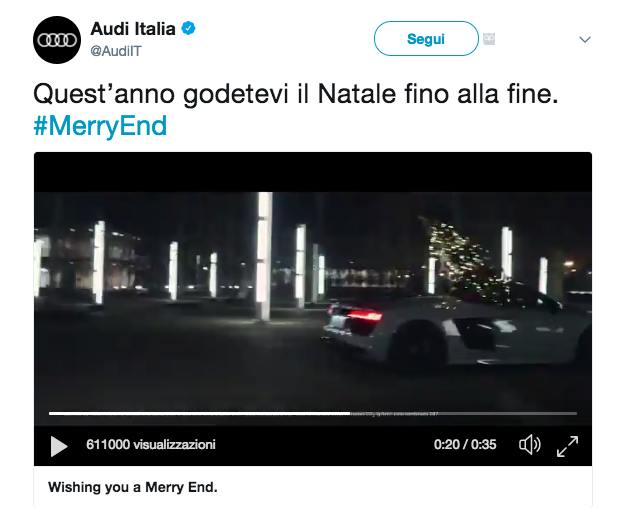 Audi Merry End Natale capodanno 2017 Christmas New Year's Eve Screenshot 2018-01-08 19.29.54