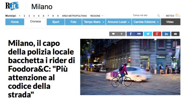 Repubblica Comandante vigili Milano Deliveroo corrieri rider bicicletta Screenshot 2018-02-28 09.53.23.png