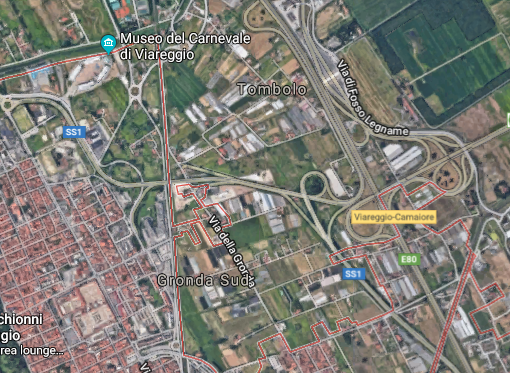 Viareggio Autostrada da Google Maps Screenshot 2018-02-23 11.07.07