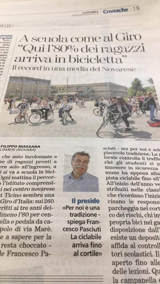 a scuola in bicicletta novara pista cicliabile bambini ragazzi