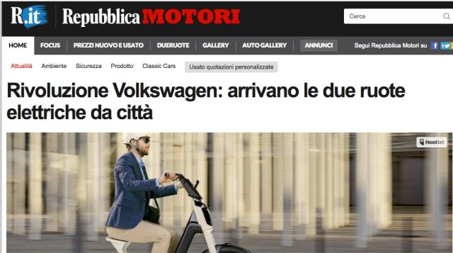Rivoluzione Volkswagen arrivano le due ruote elettriche da città Repubblica Motori Screenshot 2018-03-10 20.17.27