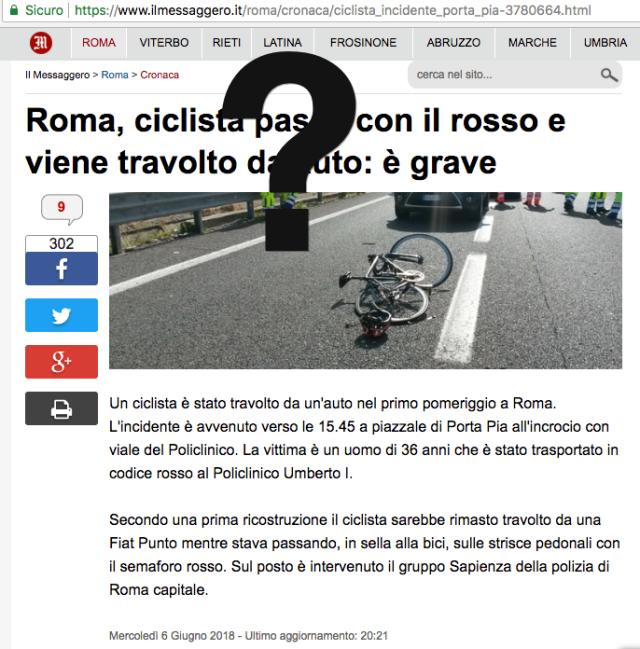 Il Messaggero Roma ciclista investito passa col rosso Screenshot 2018-06-07 16.56.22