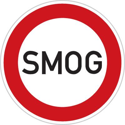 smog segnale stradale