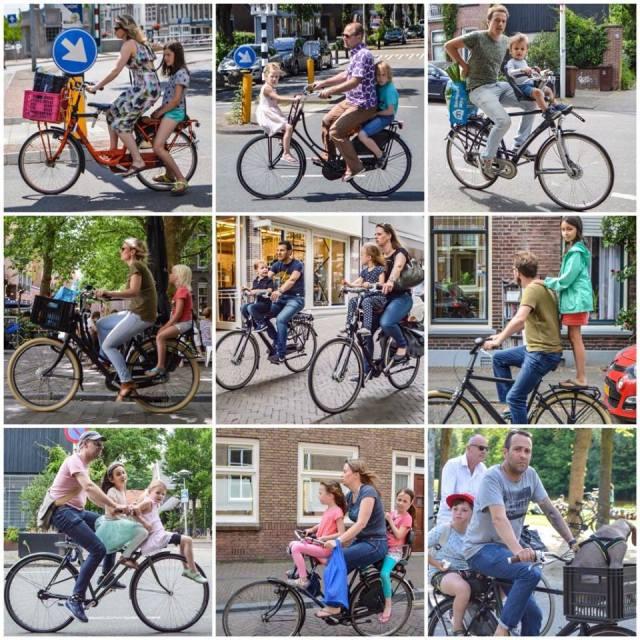 bici per famiglie in Olanda